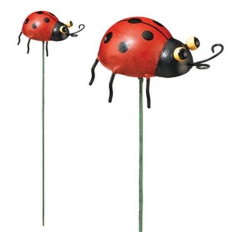 Metal Bugs Garden Decor Ladybug Garden Stakes Set Of 6 Only 29 99 At Garden Collector Items