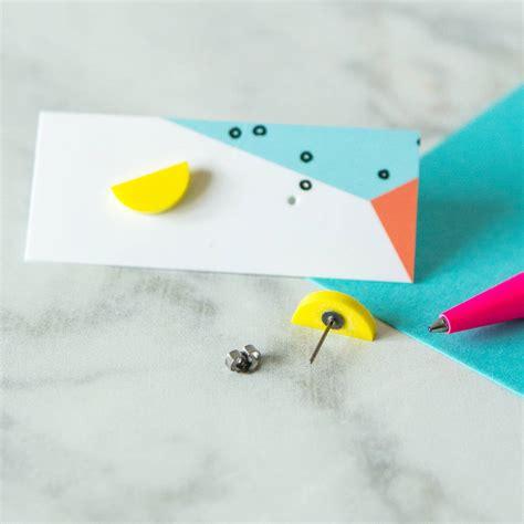 geometric acrylic laser cut earrings by berylune