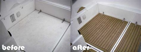 Replace Boat Floor by Synthetic Teak Decking For Boats Boat Floor Replacement
