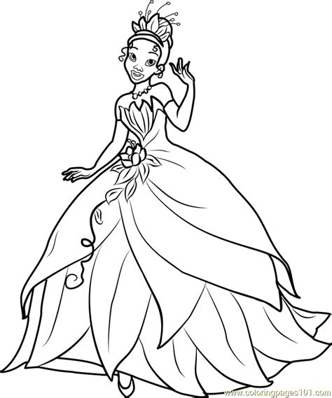 coloring pages princess tiana princess tiana coloring page free disney princesses