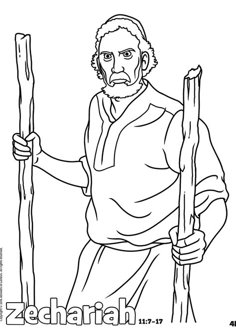 coloring page zechariah free coloring pages coloring page zechariah