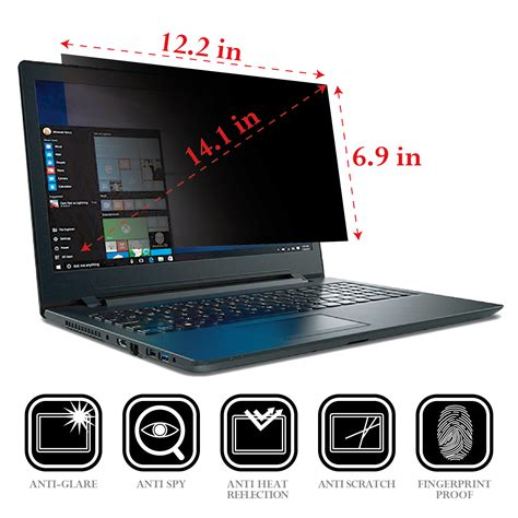 Monitor Komputer 14 Inch privacy protective lcd screen filter for 14 inch pc