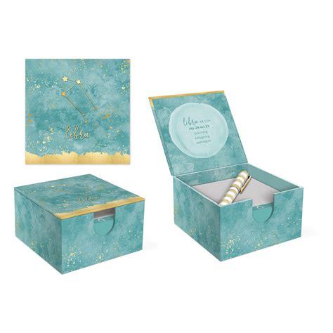 Desk Box Libra 6128 libra hinged memo box with pen jayne