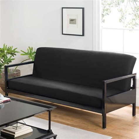 futon black futon covers modern black soft cotton home bed sofa