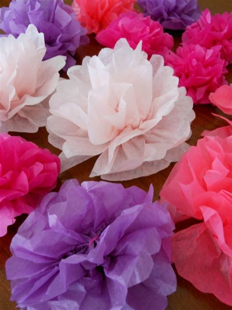 Make Flowers Out Of Tissue Paper - how to make tissue paper flowers napkin rings for a tea