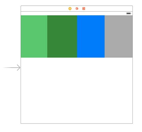 xcode linearlayout split view into four subviews with 25 width