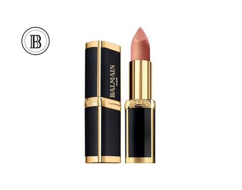 Lipstik Loreal l or 233 al x balmain lipstick collection poppaganda