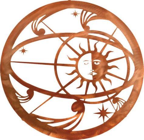 Copper Moon Landscape Lighting - southwest metal wall art celestial sun moon 18 quot rustic artwork by mybarnwoodframes