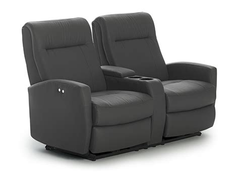 reclining console loveseat contemporary space saver power reclining loveseat with