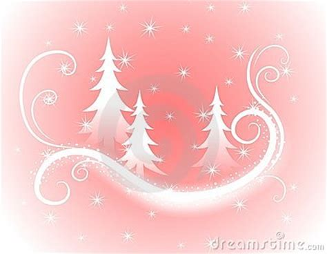 decorative pink christmas trees background royalty  stock  image