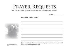 prayer request cards templates | favorite q view full size