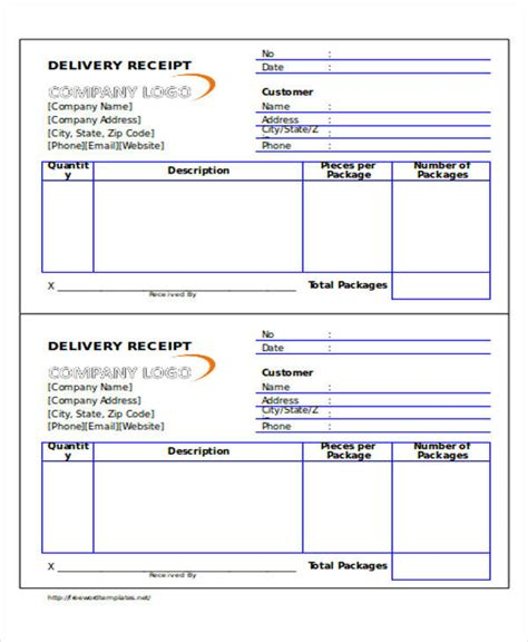 delivery receipt template doc 36 printable receipt forms sle templates
