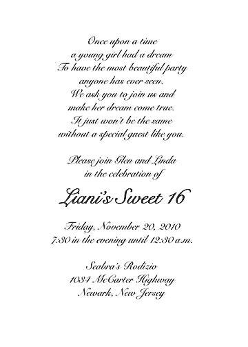 sweet wedding invitation text sweet sixteen invitation style 1 sle b