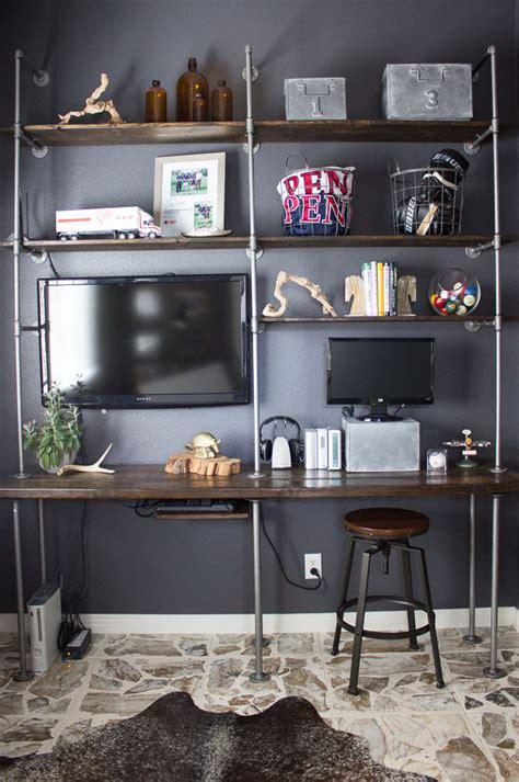 Garage Shelf Design man cave reveal design improvised