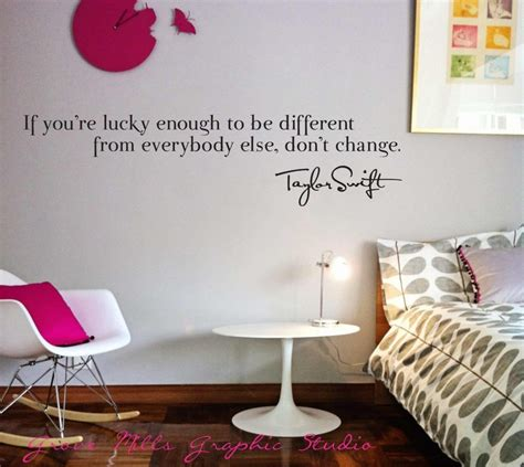 girls bedroom wall quotes taylor swift wall decal taylor swift wall quote girls room wall decal 25 00 via