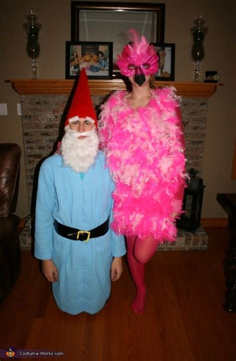 Lawn Ornaments Flamingo And Garden Gnome Couple Costume Garden Costume Ideas