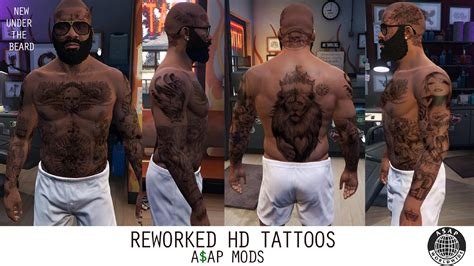 tattoo gta v online hd tattoos face sleeve back feet for trevor franklin
