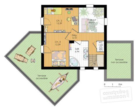agréable Plan Petite Maison 2 Chambres #2: plan-maison-en-bois-meuble-etage-17631.jpg