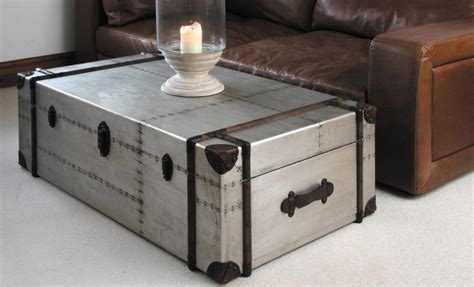 metal trunk coffee table steel trunk coffee table coffee table design ideas