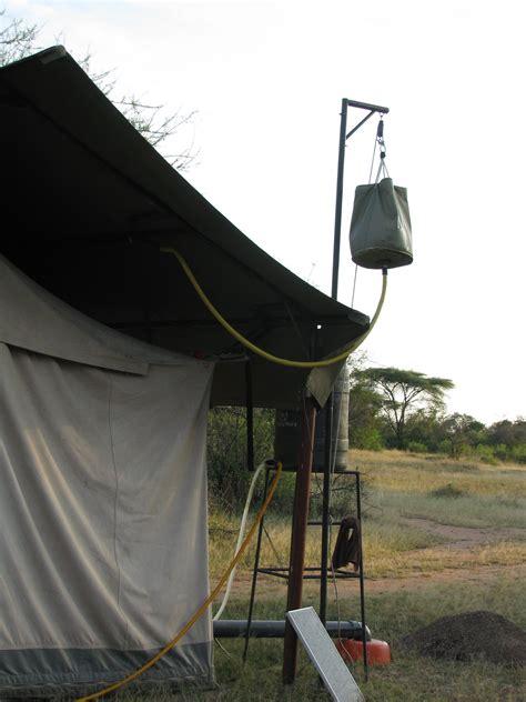 bucket shower  safari  africa