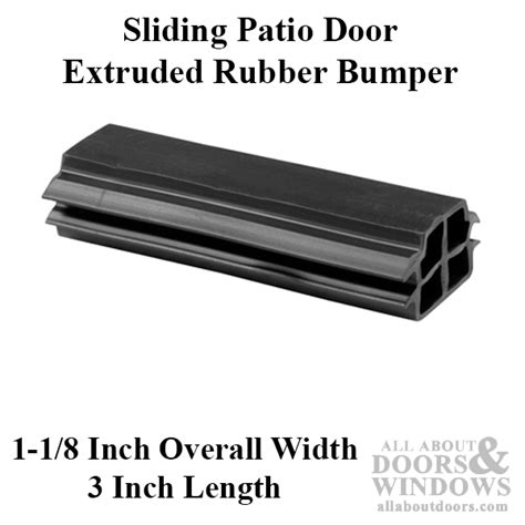 Patio Door Bumper Bumper Sliding Patio Door Extruded Rubber Bumper Black