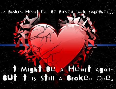 Broken Heart Girl Wallpapers With Quotes