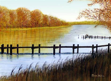 Wallace At Bay langford bay painting by brian wallace
