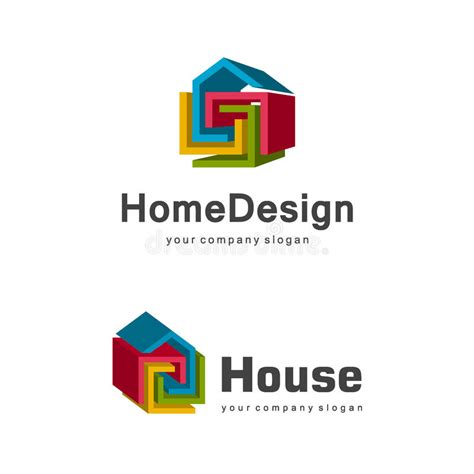 home design 3d logo 3d home logo template abstract geometric house symbol