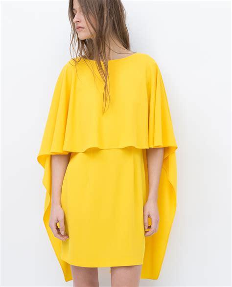 Zara Dress Original bnwt genuine zara new 2015 yellow layered dress ebay
