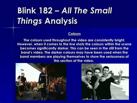 blink 182 all of this blink 182 all the small things analysis
