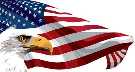 Eagle American Flag Clipart