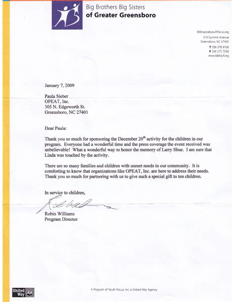 thank you letter matching gift sle thank you letter to company for donation best