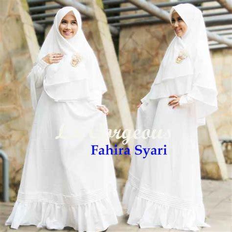 Baju Muslim Putih Tulang fahira putih tulang baju muslim gamis modern