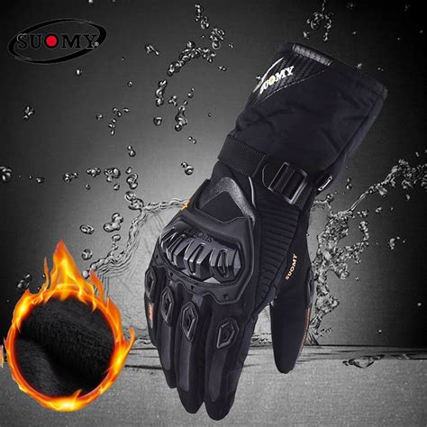 suomy  shipping winter warm motorcycle gloves