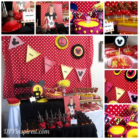 mickey mouse theme decorations mickey mouse theme diy inspired