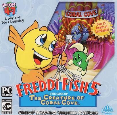 cartoon fish pc games freddi fish 5 the case of the