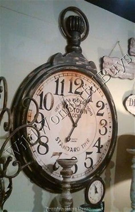 antique style pocket watch large wall clock by jones and 24 best images about clocks on pinterest