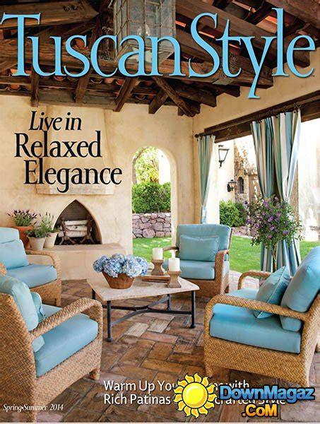 tuscan style magazine springsummer