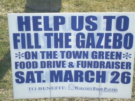 Wolcott Food Pantry by Wolcott Ct Food Drive March 26 2011