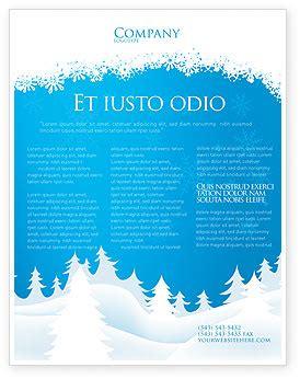 Forest Snow Flyer Template Background In Microsoft Word Publisher And Illustrator Formats Snowy Flyer Template