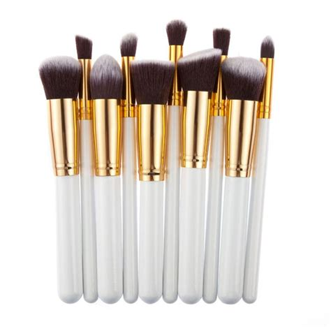 Set Perhiasan Xuping Silver 10 10 aliexpress buy 10 pcs silver golden makeup brushes