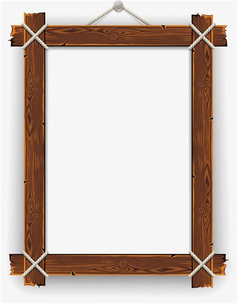 wood frame design vector wood frame nail frame book frame png and vector for