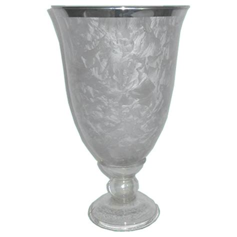 Glass Goblet Candle Holders Frosted Glass Goblet Candle Holder Large 27x16cm Home
