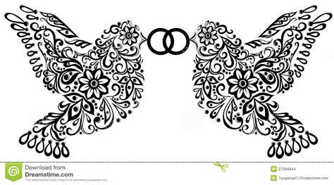 Z Wedding Clip by Clipart De Mariage Silhouette De Deux Oiseaux