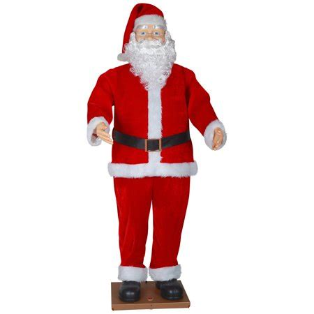 walmart singing and dancing santa claus time size animated santa with realistic decor 6 walmart