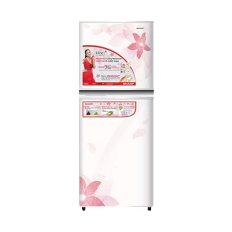 Tutup Freezer Sharp jual sharp new kirei ii series sj 316nd fw kulkas 2 pintu