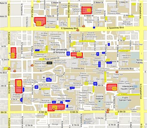 ua housing map and transportation the university of arizona s center for english as a second