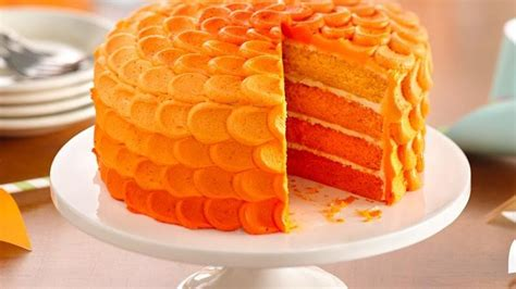 tangerine ombre cake recipe from betty crocker