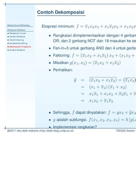 Ck Multi Fungsi 8859 t s k205 kuliah 5 metode quine mc kluskey rangkaian multi level