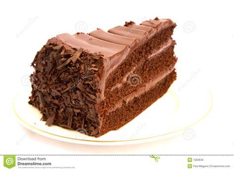 Slice Of Chocolate Cake Royalty Free Stock Image   Image: 1282646